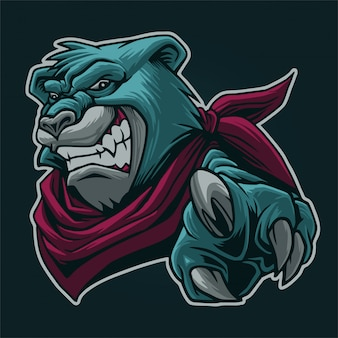 Cool bear head