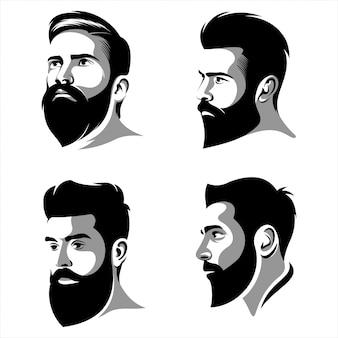Cool beard man logo