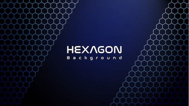 Cool blue hexagon background