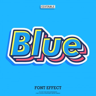 Cool blue layered typeface characte