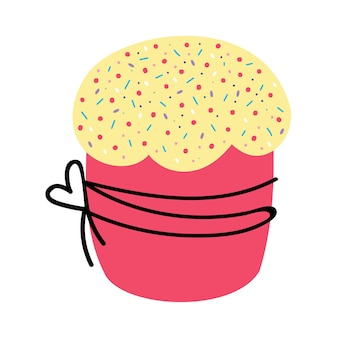 A cool cake on a white background  vector illustration