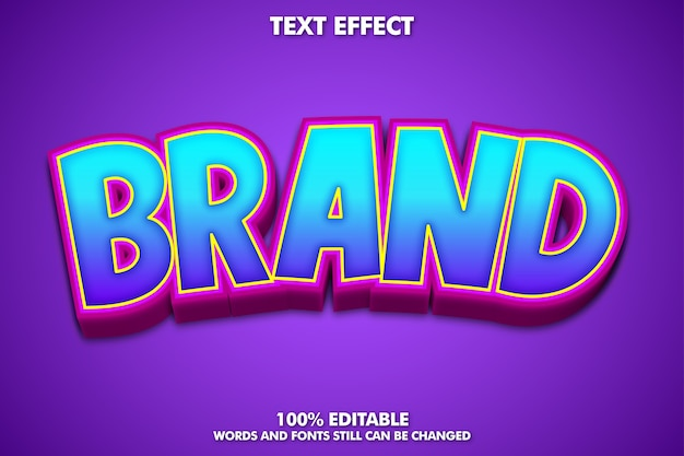 Cool cartoon font effect