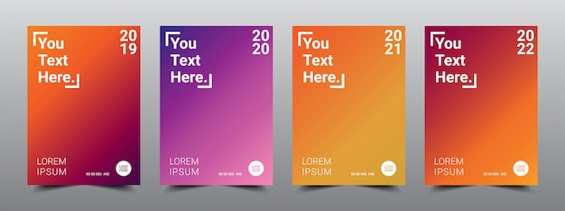 Cool color covers layout design template.