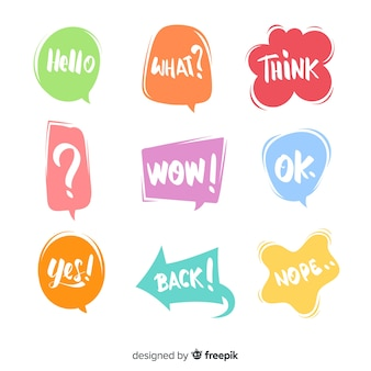 Cool colorful speech bubbles for dialog