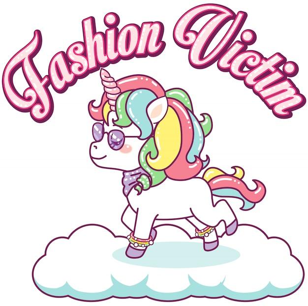 Cool colorful unicorn