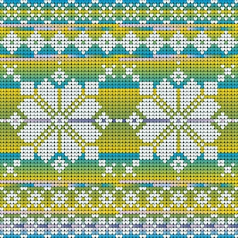 セーター、グラデーションの背景のクリスマスの星のクールな色のシームレスなパターン