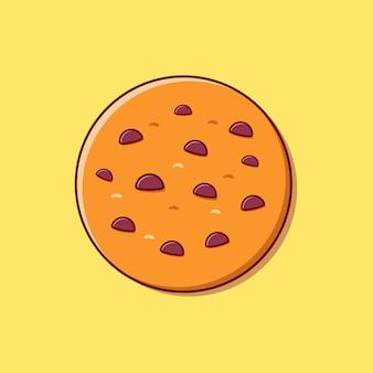 초콜릿 플랫 일러스트 벡터와 함께 멋진 쿠키