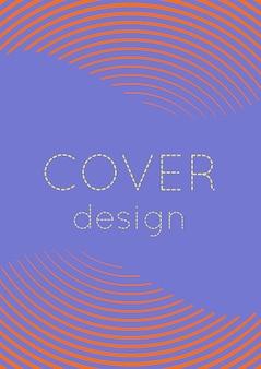 멋진 표지 템플릿입니다. 하프톤 그라디언트가 있는 최소한의 최신 유행 벡터입니다. 전단지, 포스터, 브로셔 및 초대장을 위한 기하학적 멋진 표지 템플릿입니다. 최소한의 다채로운 모양입니다. 추상 그림입니다.