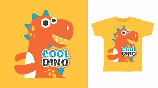 Tシャツデザインのクールな恐竜