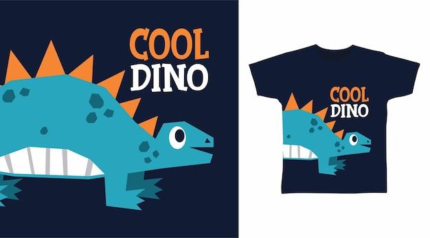 Крутой динозавр для дизайна футболки