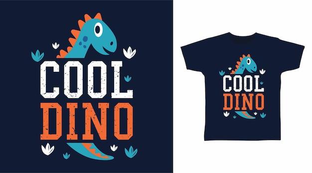 티셔츠 디자인을 위한 멋진 공룡 타이포그래피