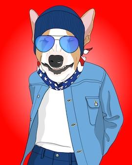 Cool dog illustration