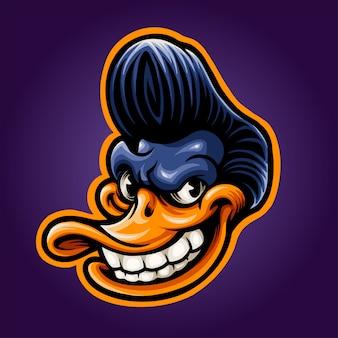 Cool duck illustration
