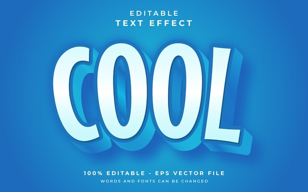 Cool editable text effect