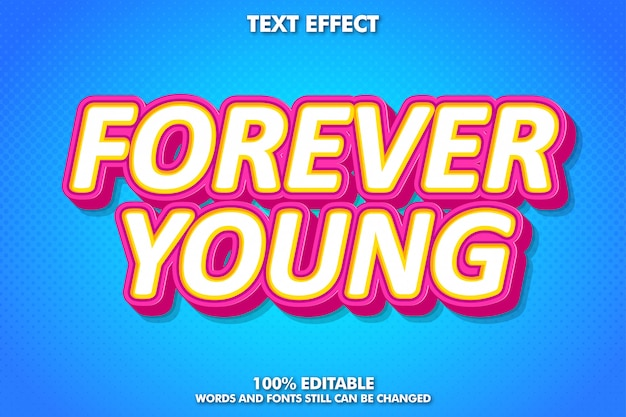 Cool fancy pop art text effect for retro poster and banner
