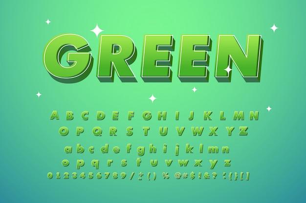 Прикольный модный зеленый шрифт.
