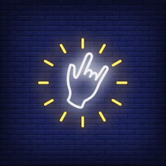 Cool gesture neon sign