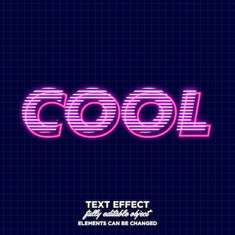 Cool glowing text effect