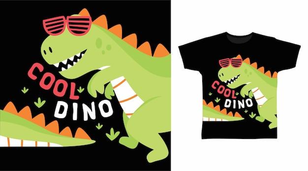 Cool green dinosaur tshirt design