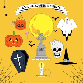 Cool halloween elements