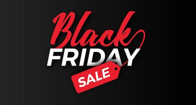Cool headline typography for black friday sale offer banner