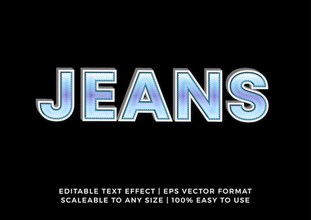 Эффект текста заголовка cool jeans