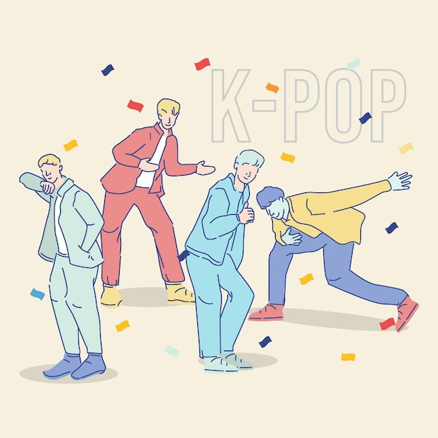 Cool k-pop boy group