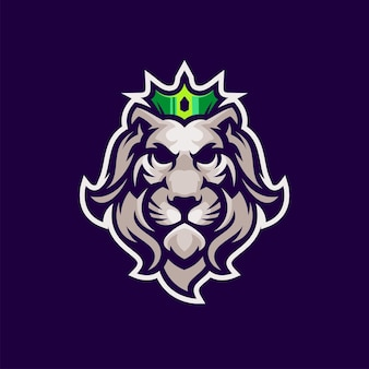Cool lion king logo with vector
