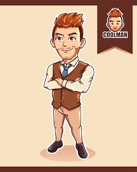 Cool man character
