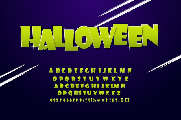 Cool modern alphabet halloween