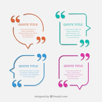 Cool and modern collection of quote templates