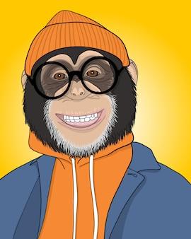 Cool monkey illustration