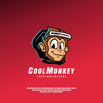 Cool monkey logo template