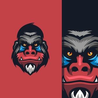 팀을 위한 벡터가 있는 멋진 원숭이 로고