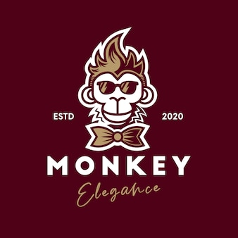 Прохладный логотип обезьяны
