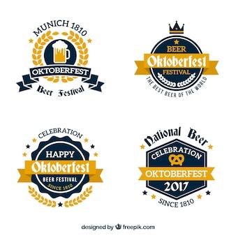 Cool pack of elegant oktoberfest badges