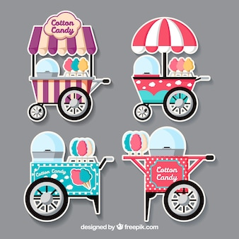 Cool pack of flat cotton candy carts