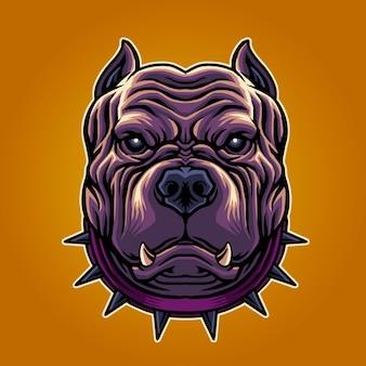Cool pitbull illustration