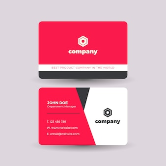 Cool red and white business card