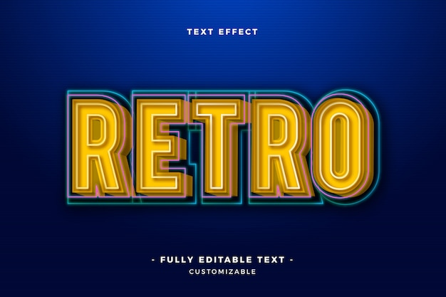 Cool retro text effect
