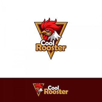 Cool rooster logo template