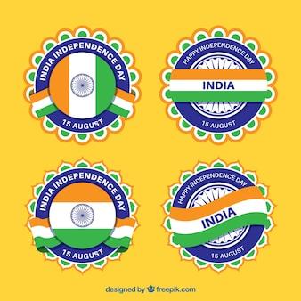 インド独立日のためのクールなバッジセット