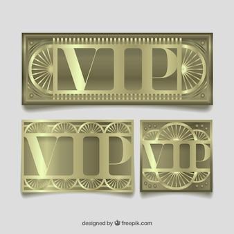 車輪付きのクールなセットのvipカード