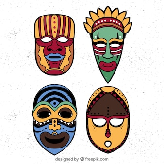 Cool set of traditional tribal masks