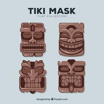 Cool serie di maschere tribali in legno