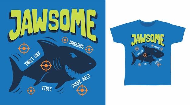 Крутой дизайн футболки с мишенью для акулы