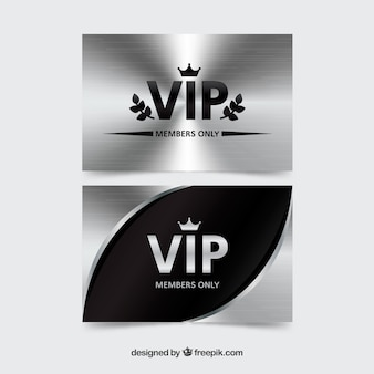 Cool silver vip cards
