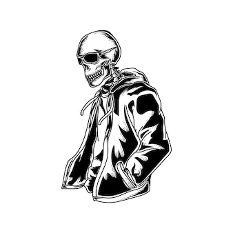 Cool skull with hoodie