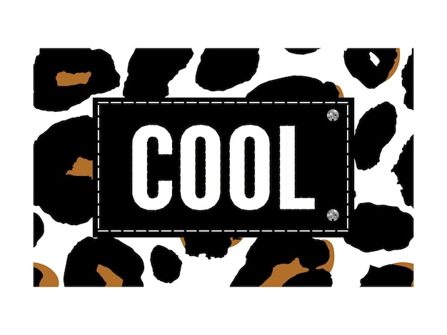 Крутой слоган на леопардовом животном принте