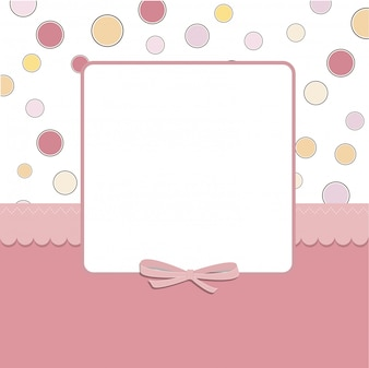 Cool template frame design for greeting card